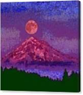 Mountain View Lit Fragmented Canvas Print