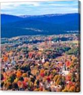 Mountain View Of Easthampton, Ma Canvas Print