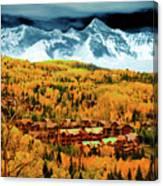 Mountain Village Autumn Canvas Print