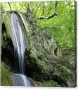 Mountain Waterfall Spring Nature Scene Canvas Print