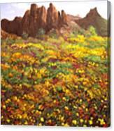 Mountain Wildflowers II Canvas Print