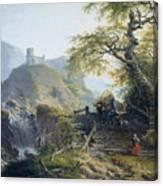 Mountainous Landscape Near Duesseldorf Canvas Print