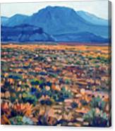 Mountains And Mesas Canvas Print