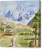 Mountains And Valley Canvas Print