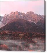Mountains At Dawn Canvas Print
