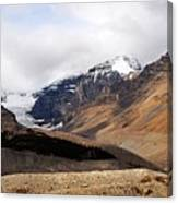 Mountains Clouds And Glaciers 2 Canvas Print