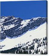 Mountains Covered With Snow, Little Canvas Print