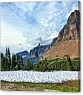 Mountains In Glacier National Park 2 Canvas Print