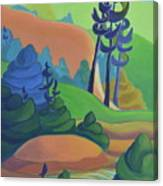 Hills In Spring Canvas Print