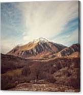 Mountains In The Background Xvii Canvas Print