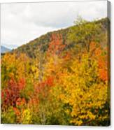 Mountains In The Fall Colors Canvas Print