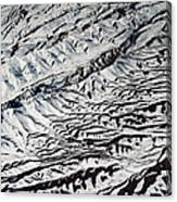 Mountains Patterns. Aerial View Canvas Print