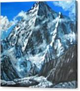 Mountains view landscape acrylic painting Canvas Print