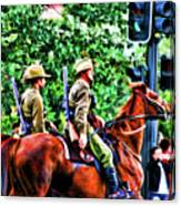 Mounted Infantry Canvas Print
