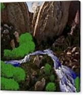 Mountine River Canvas Print