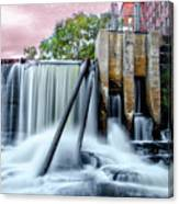 Mousam River Waterfall In Kennebunk Maine Canvas Print