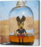 Mouse In A Bottle  Canvas Print