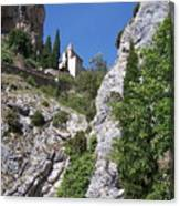 Moustier St. Marie Church Canvas Print