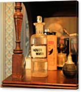 Mouth Wash In The Old Days Canvas Print