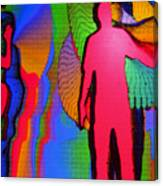 Human Movement In Color Canvas Print