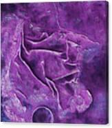 Movement In Purple Canvas Print