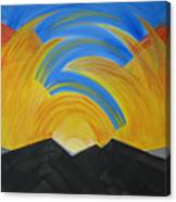 Movement Of A Sunset Canvas Print