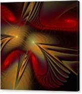 Movement Of Red And Gold Canvas Print