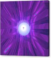 Moveonart Abstract Cross In Purple Canvas Print