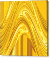 Moveonart Golden Light Wave Canvas Print