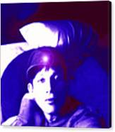 Moveonart Jacob In Blue Light Thinking Canvas Print