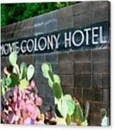 Movie Colony Hotel Palm Springs Canvas Print