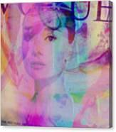 Movie Icons - Audrey Hepburn Vi Canvas Print