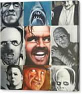Movie Villians Canvas Print