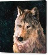 Moving Wolf Canvas Print