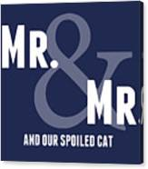 Mr And Mr And Cat Canvas Print