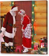 Mr And Mrs S Claus Canvas Print