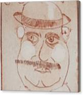 Mr Bloom Greeting Card Canvas Print
