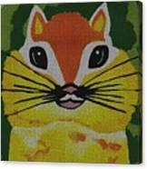 Mr Chipmunk Canvas Print