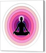 Meditation With Yoga Canvas Print