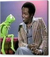 Mr Lou Rawls - Kermit The Frog Canvas Print