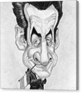 Mr Nicolas Sarkozi Caricatur Portrait Canvas Print