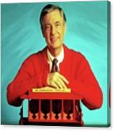 Mr Rogers With Trolley Canvas Print