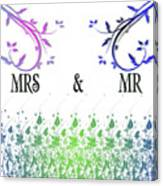 Mrs And Mr Canvas Print