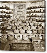 Mrs. Butts Mortar And Pestle Collection Found In San Benito Co. Canvas Print