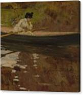 Mrs. Chase In Prospect Park , William Merritt Chase Canvas Print