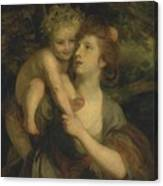 Mrs Hartley As A Nymph With A Young Bacchus Canvas Print