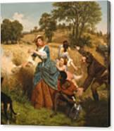 Mrs Schuyler Burning Her Wheat Fields Canvas Print