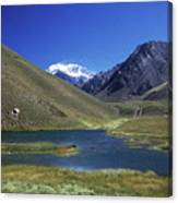 Mt Aconcagua And Laguna Horcones Canvas Print