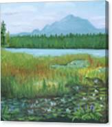 Mt Ampersand From Oseetah Lake Canvas Print