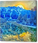 Mt Currie Fantasy Canvas Print
